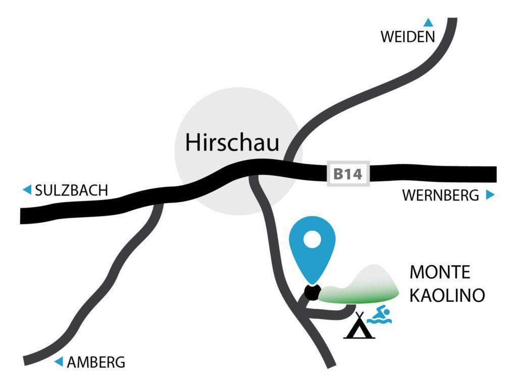 Anfahrtsskizze zum 3D-Bogenparcours der SG DIANA Hirschau